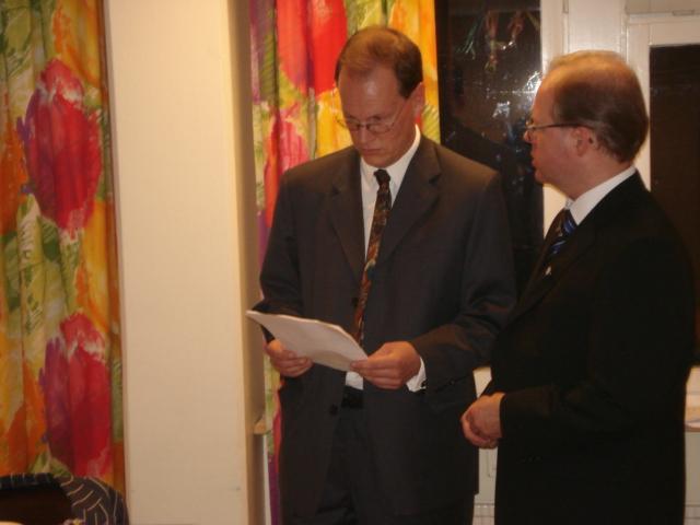 Björn Andesson och Mats Eriksson diskuterar programmet