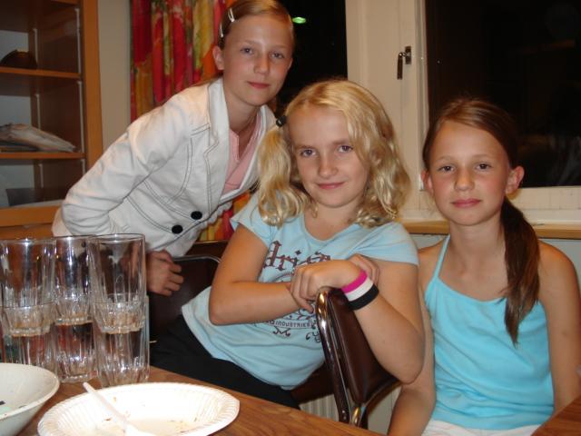 Julia Bengtsson, Louise Segerfelt och Jessica Bengtsson bistod med pyntning och servering och utgjorde också den s.k. Manhem-kören