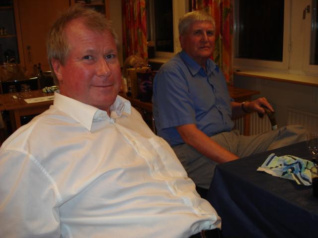 Sven Persson, nuvarande sekreterare, och Hugo Florin, ordförande 1989-91 och general för Manhems SM-arrangemang 1990
