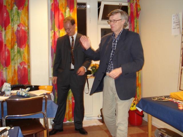 Ove Kinnmark, mottagare av veteranmärket i guld för 45 medlemsår i Manhem