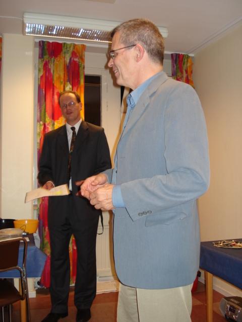 Håkan Olsén, mottagare av veteranmärket i guld för 45 medlemsår i Manhem
