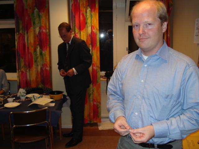 Joachim Bergré, mottagare av veteranmärket i silver för 24 medlemsår i Manhem