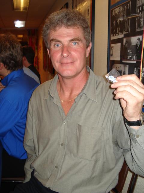 Lars-Åke Schneider, mottagare av veteranmärket i silver för 23 medlemsår i Manhem
