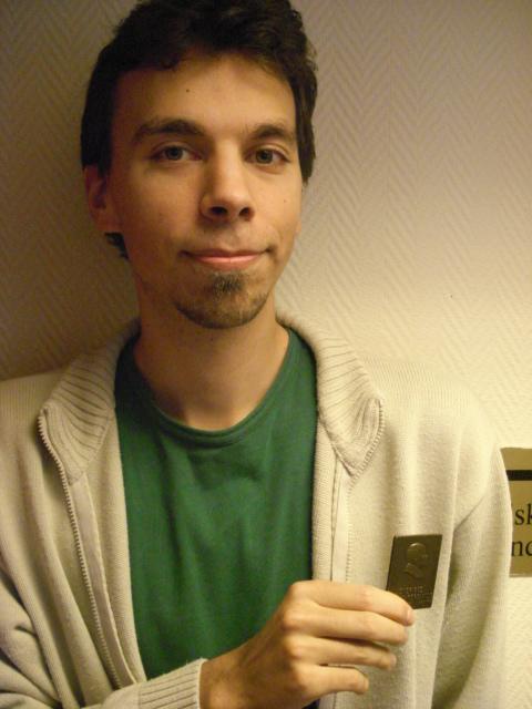 David Fendrich, 29, erhöll Collijn-plaketten i brons