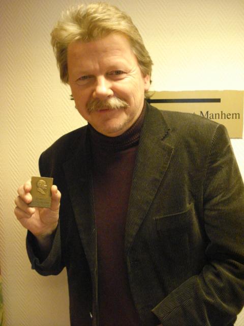 Göran Andersson, 60, erhöll  Collijn-plaketten i brons