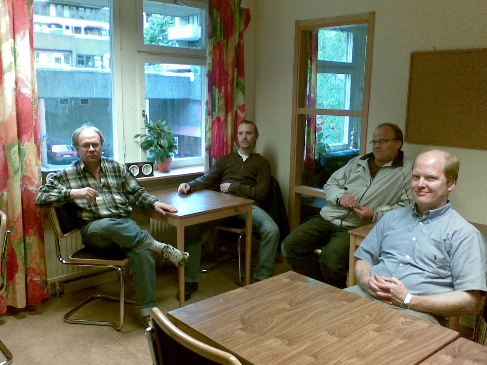 Krokodilerna Calle Jarebo, Patrik Abrahamsson, Johan Granholm och Joachim Bergré på plats.