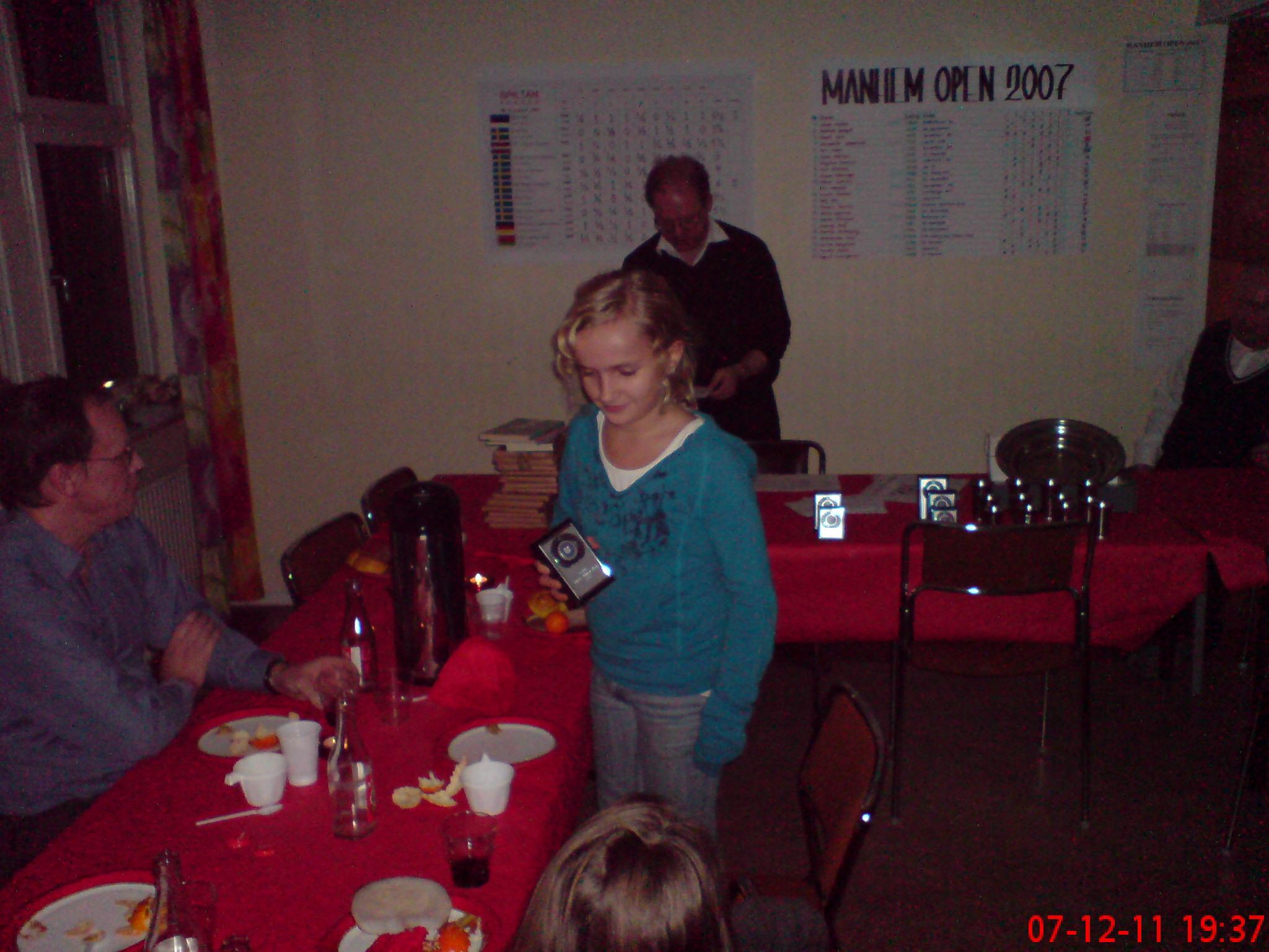 Louise Segerfelt, klubbmästarinna för yngre juniorer
