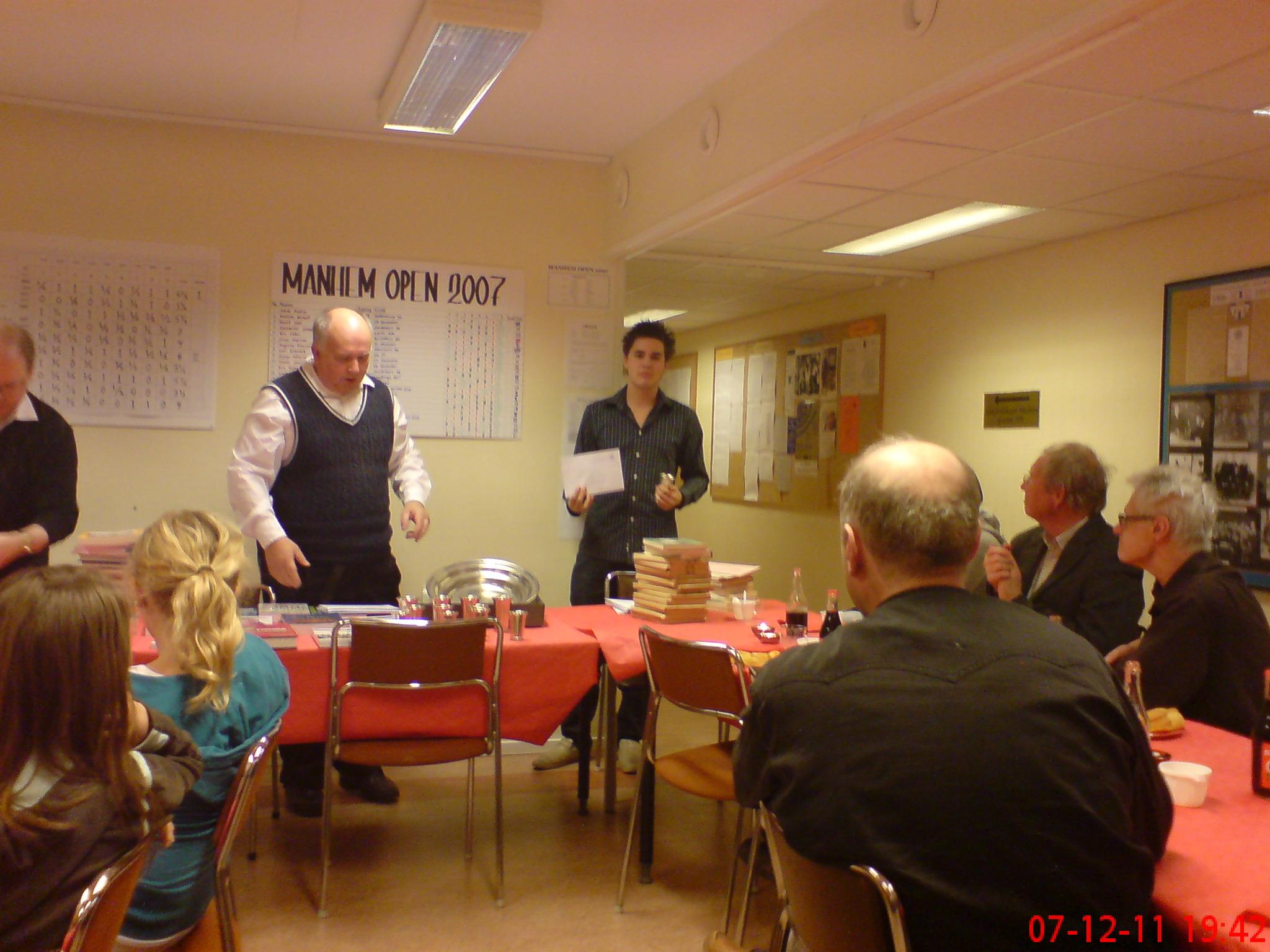 Klubbmästaren för äldre juniorer Johannes Aira slutade också tvåa i KM-gruppen