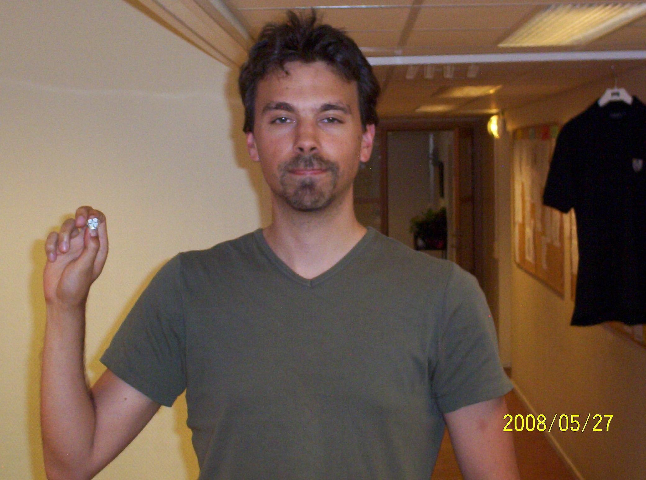 Veteranmärket i silver: David Fendrich, 21 år som manhemit.
