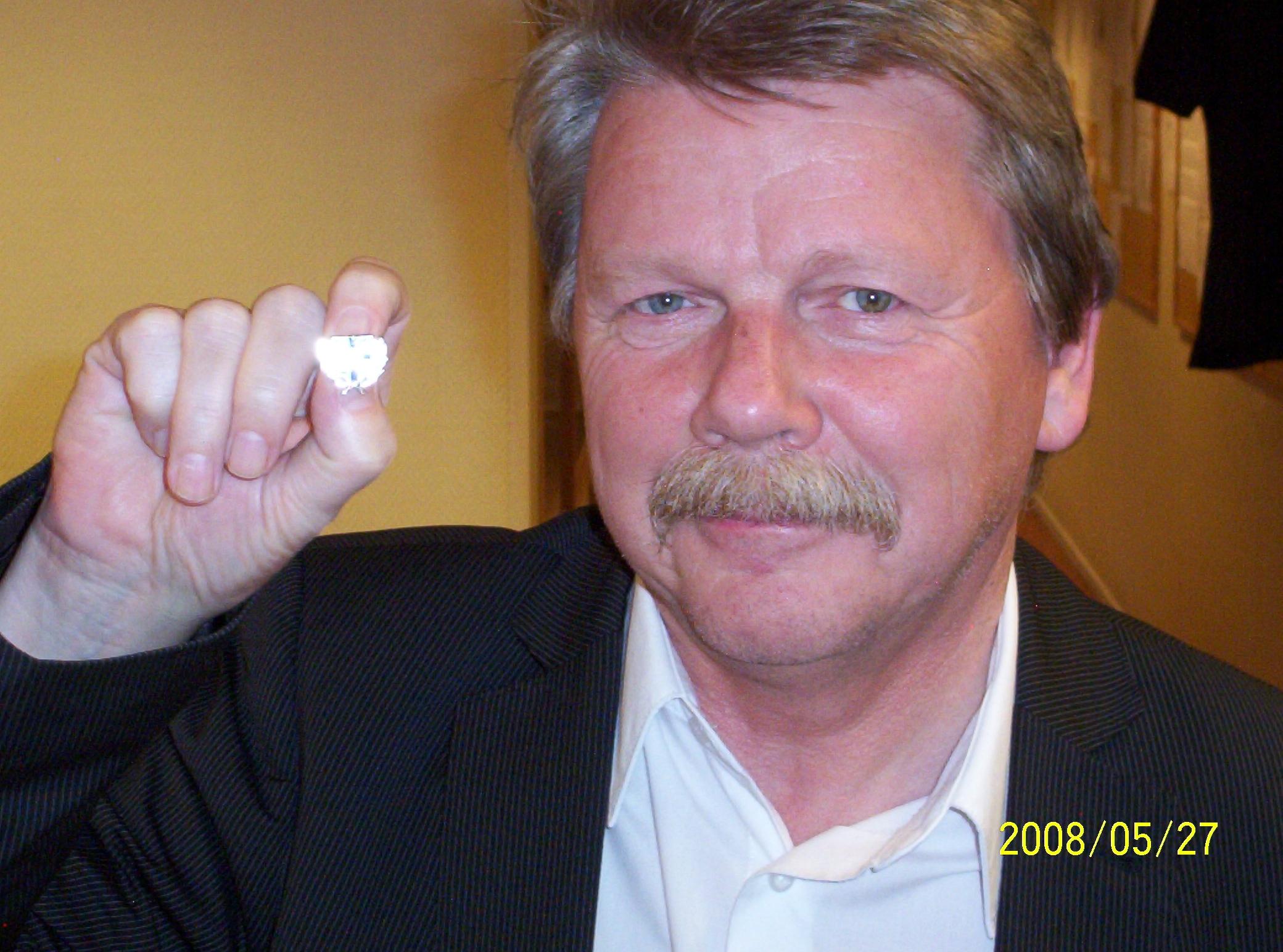 Veteranmärket i silver: Göran Andersson, 20 år som manhemit.