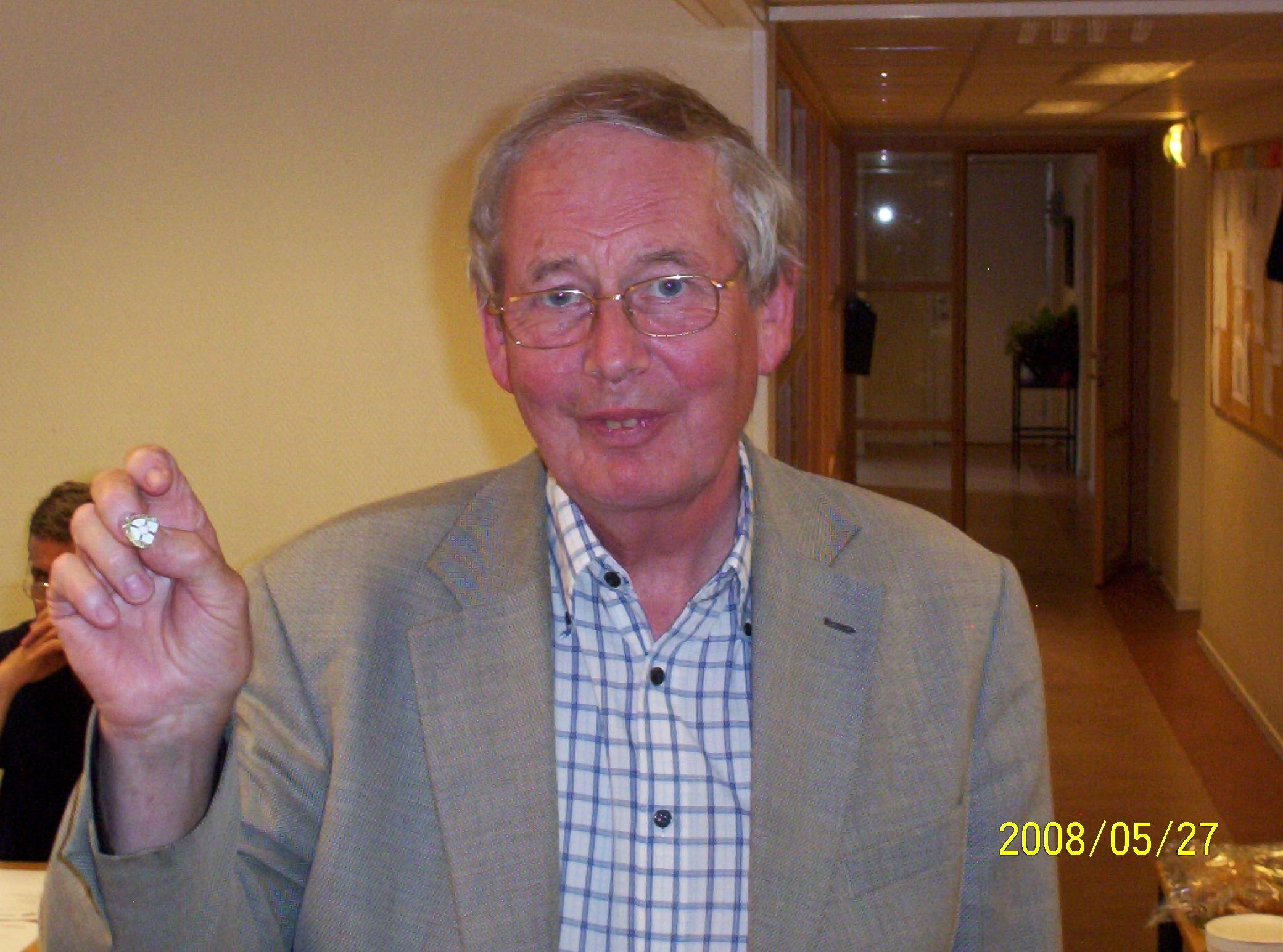 Veteranmärket i brons: Jan Falk, 14 år som manhemit.
