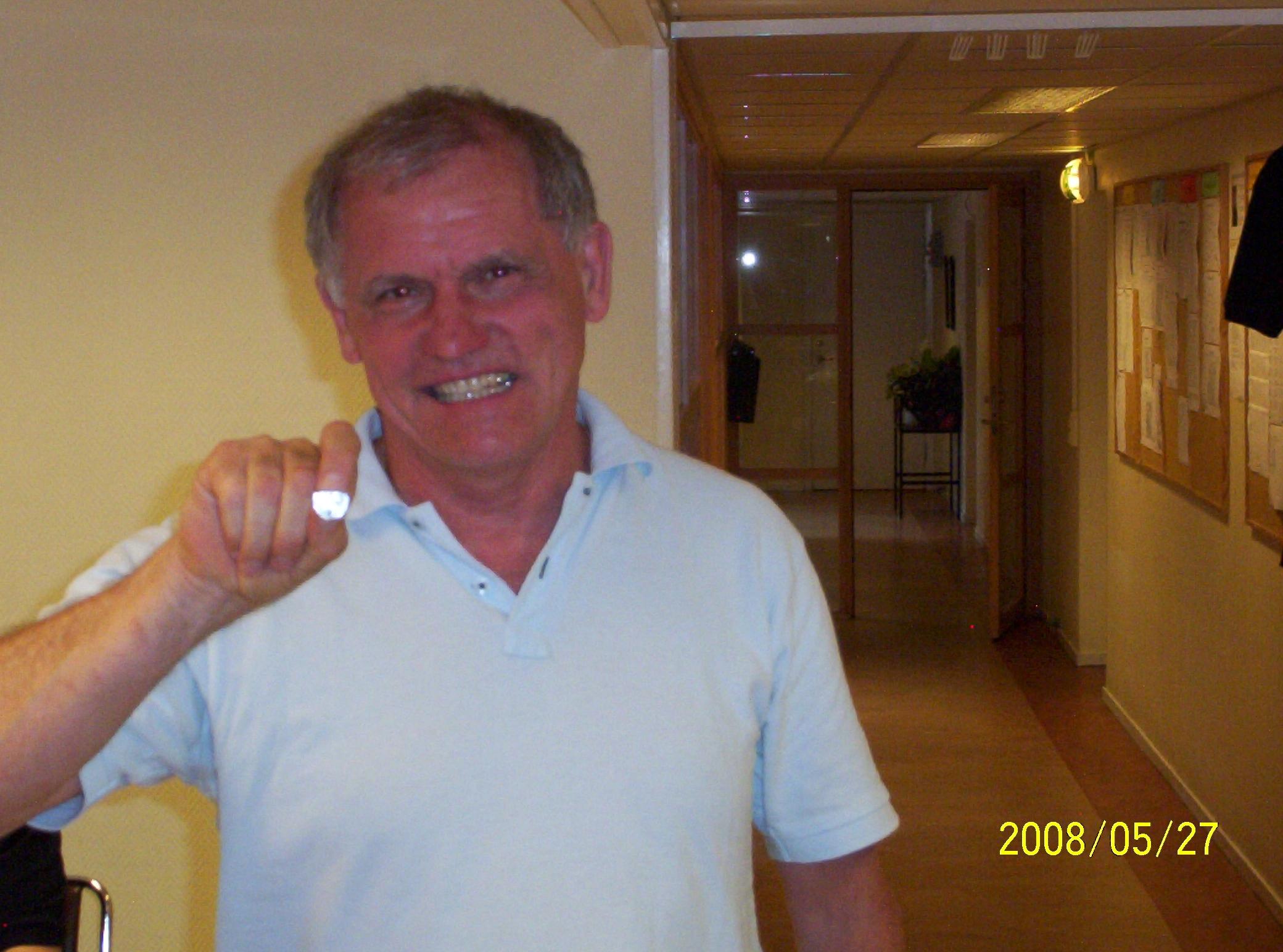 Veteranmärket i silver: Kaj Andersson, 20 år som manhemit.