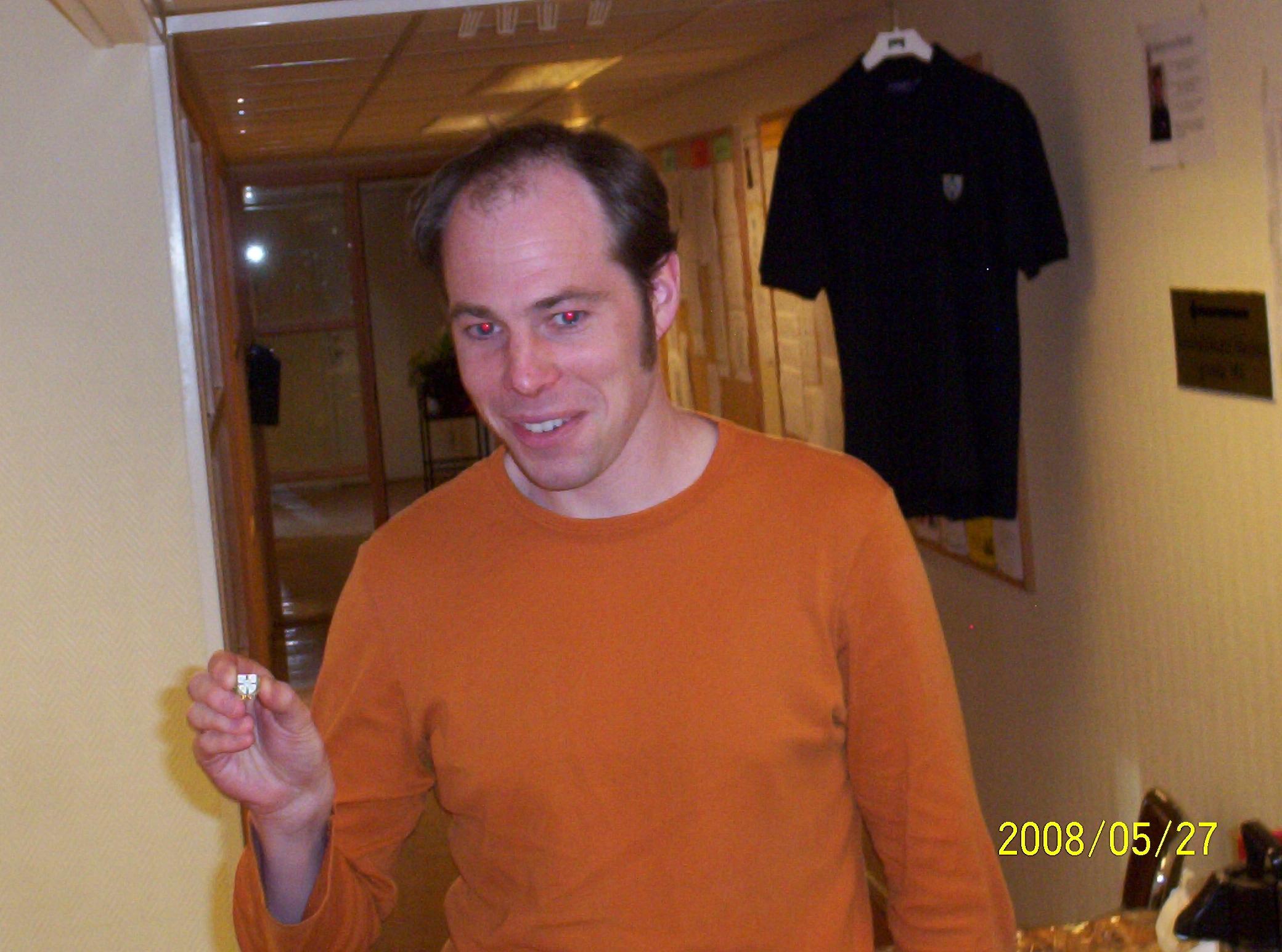 Veteranmärket i brons: Karl Malbert, 10 år som manhemit.