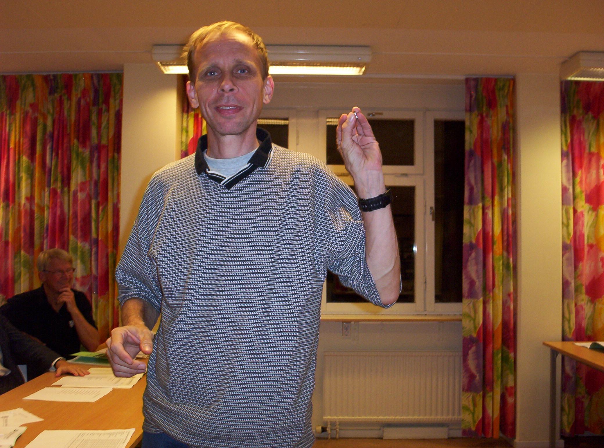 Veteranmärket i silver: Anders Ebenfelt, 22 år som manhemit.