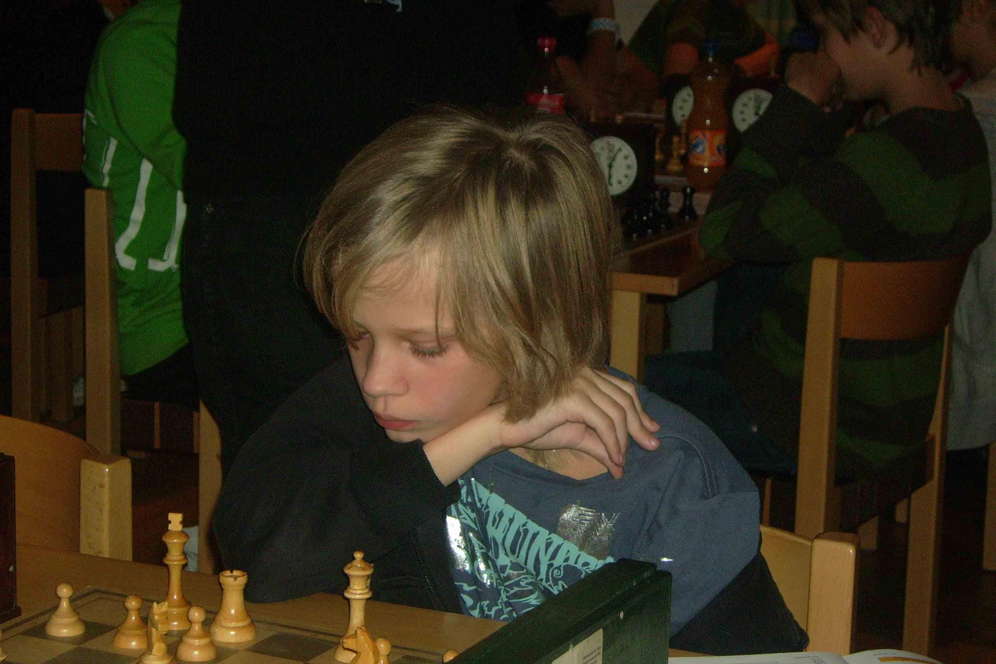 Isak Ungerfält visade fighting face i 96-klassen.