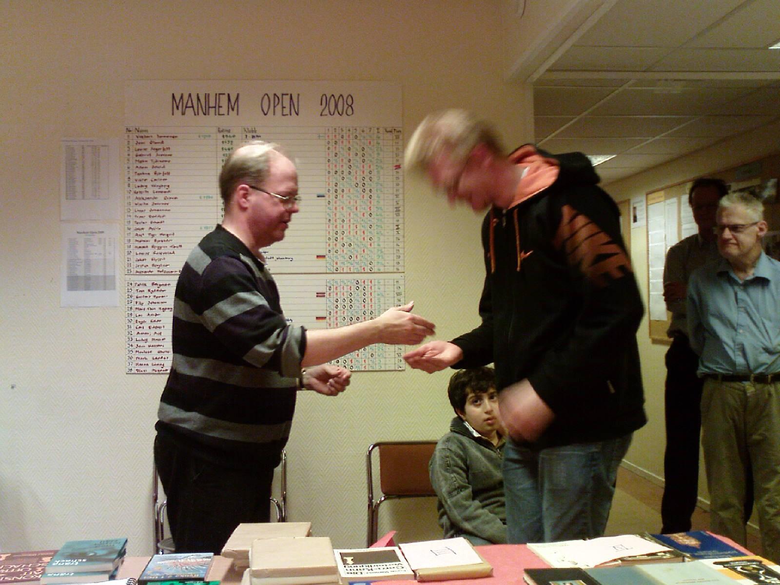 Per Hellgren: veteranmärket i silver, 20 år som manhemit.