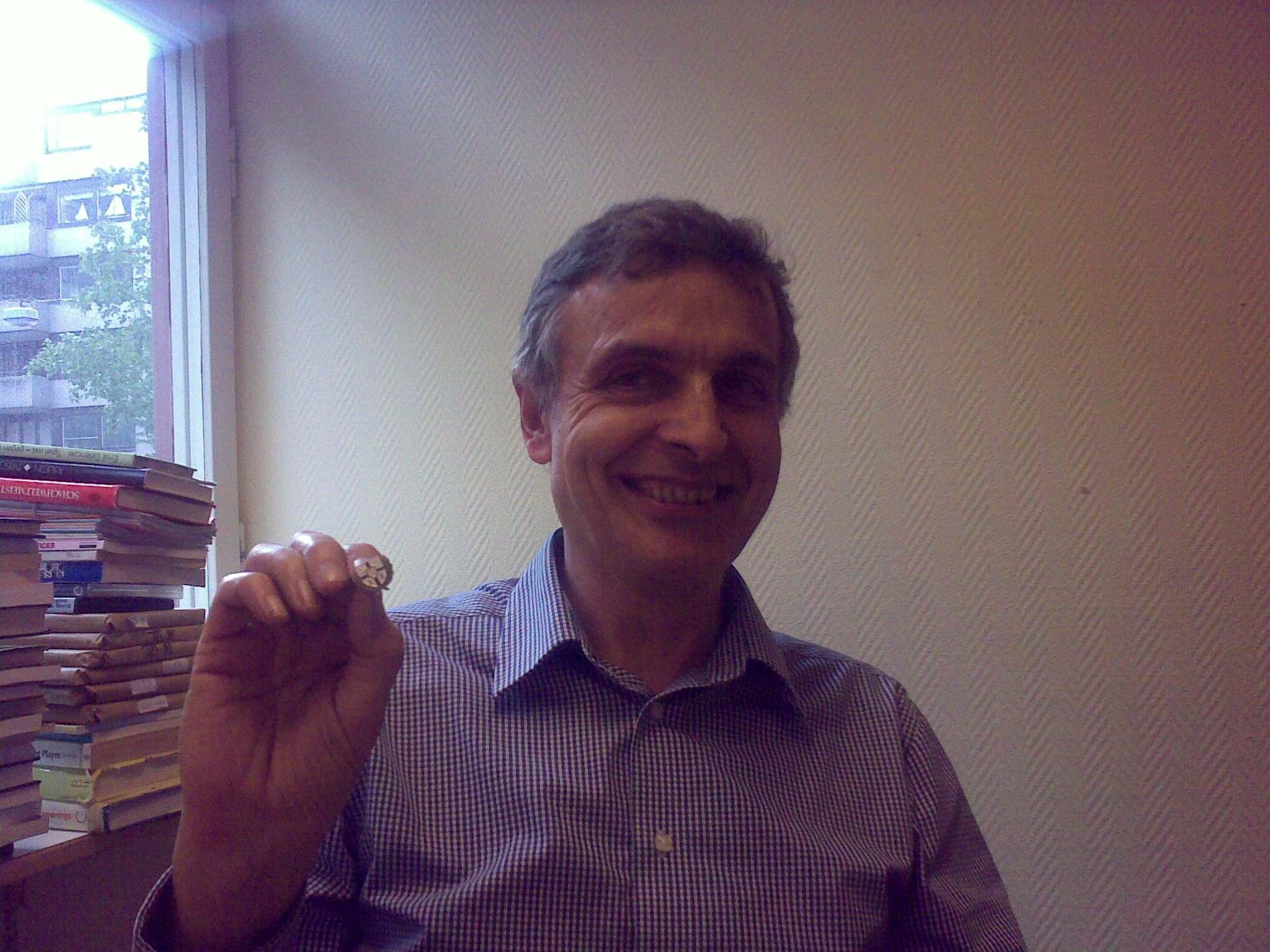 Veteranmärket i brons:  Claes Brauer, 10 år som manhemit.