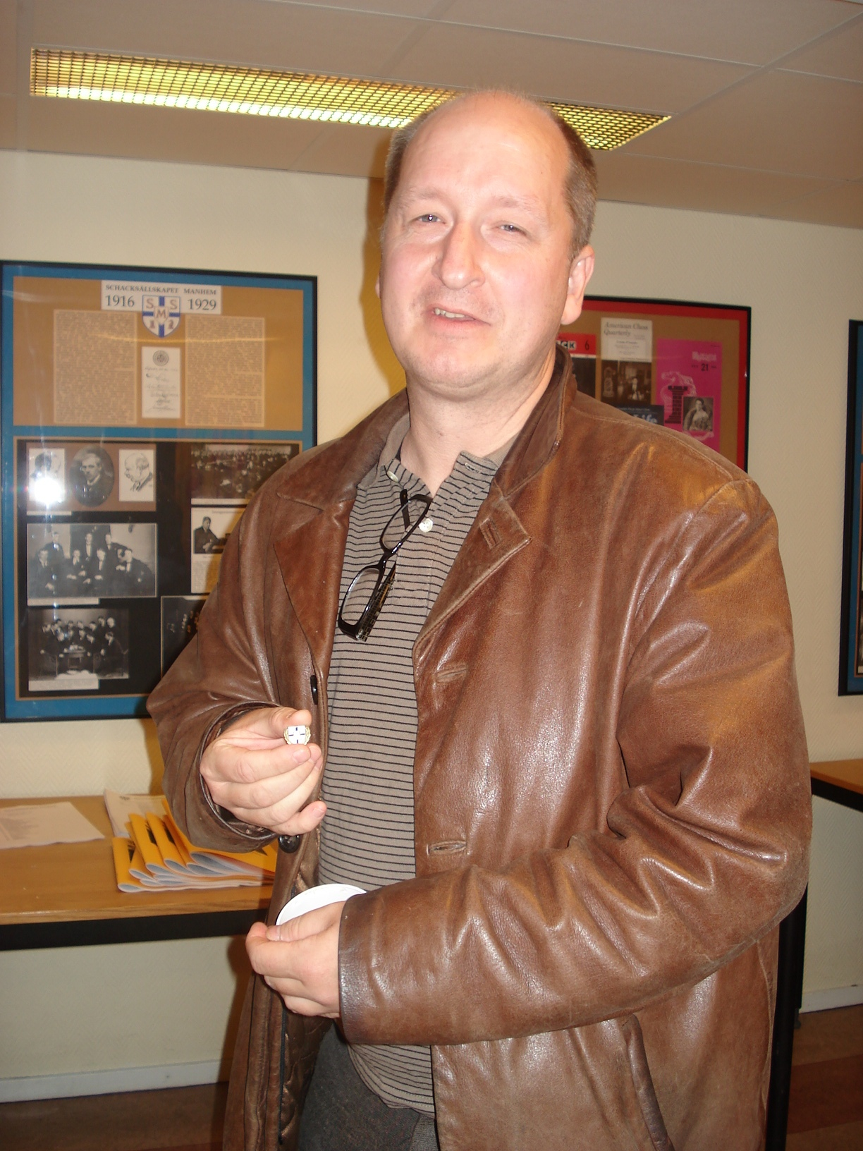 Veteranmärket i brons: Claes-Göran Olausson, 14 år som manhemit .