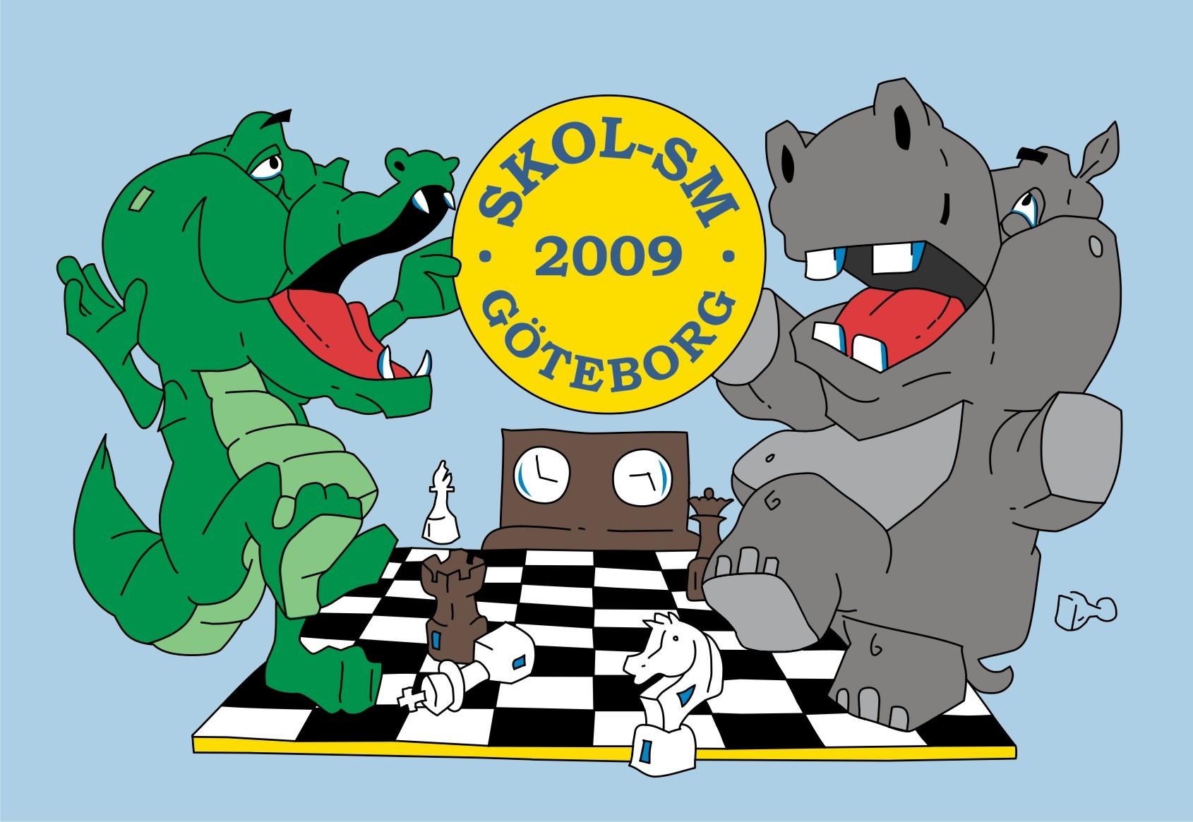 Krokis och Flodis: här kan man tala om schackglädje!