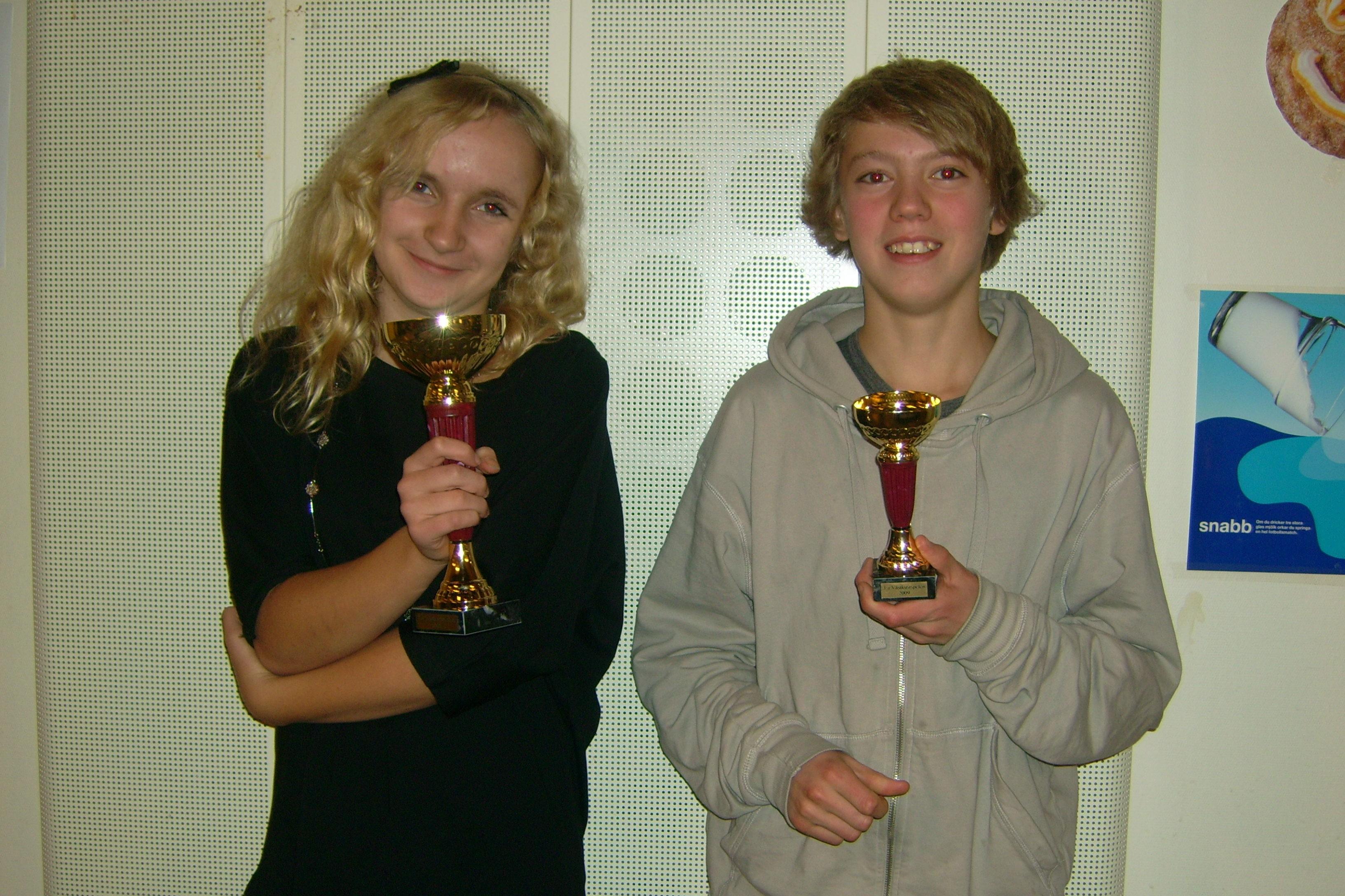 Louise Segerfelt och Viktor Lundmark på pallen i Falkenberg!