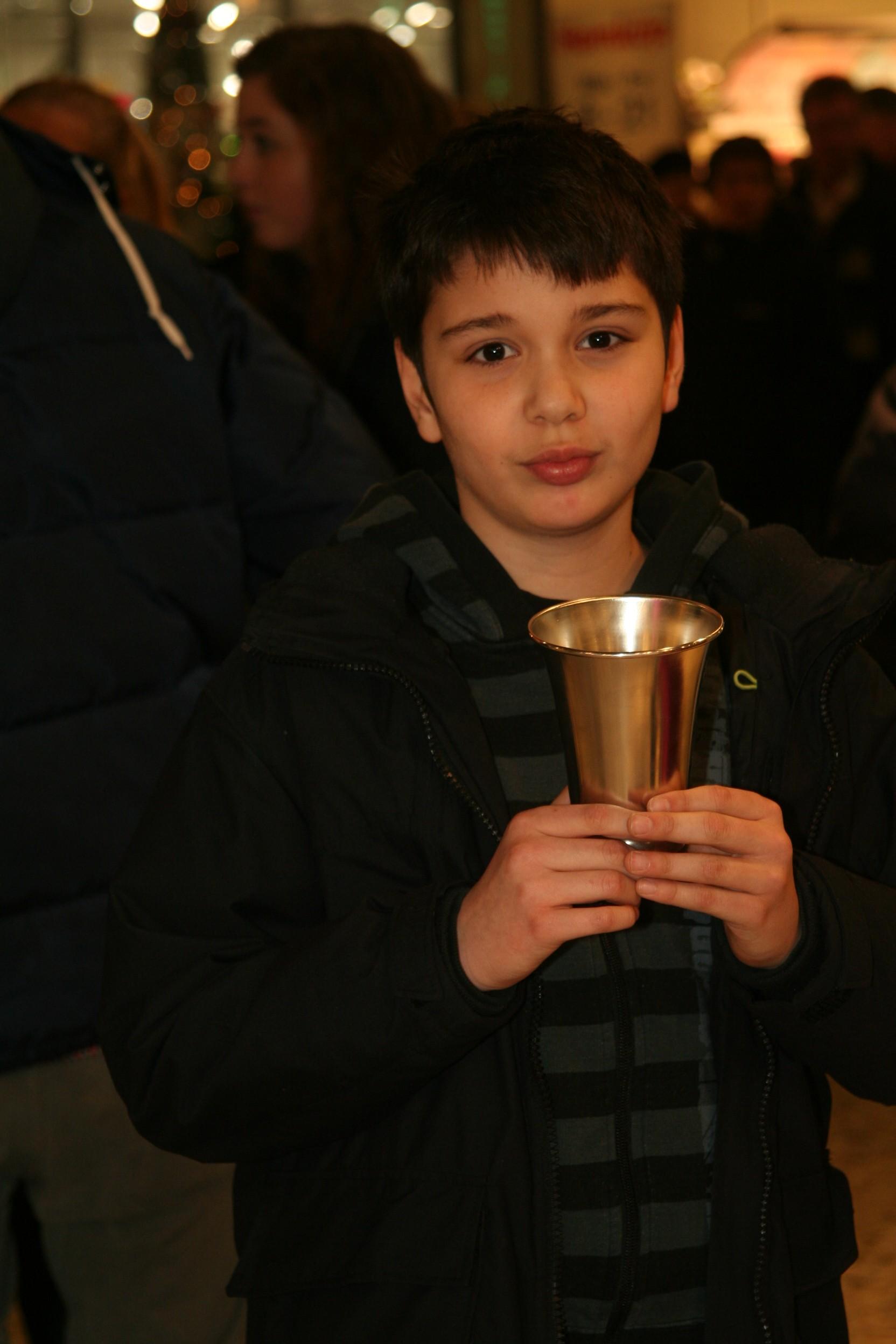 Vinnare i Nordstans knattecup: Leonardo Aira.