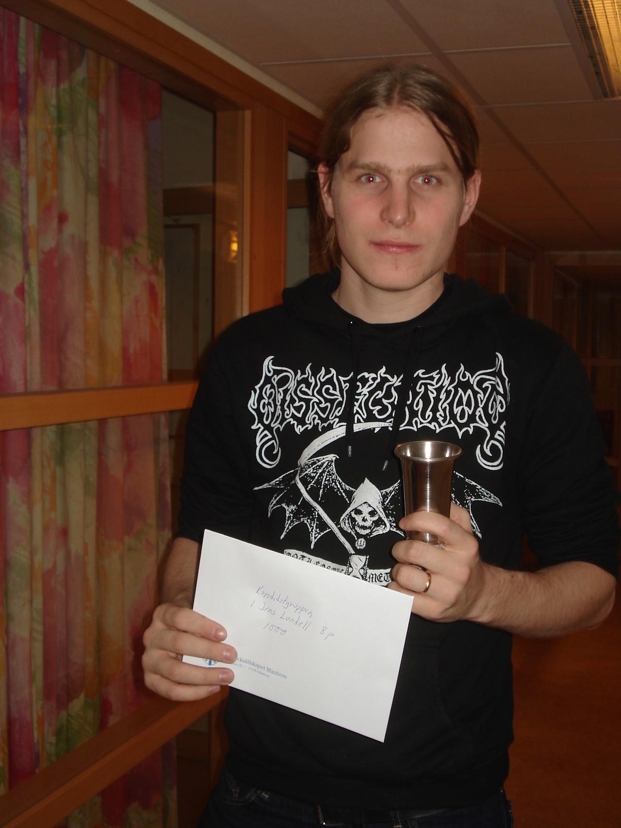 Segrare i Kandidatgruppen: Jens Lundell.