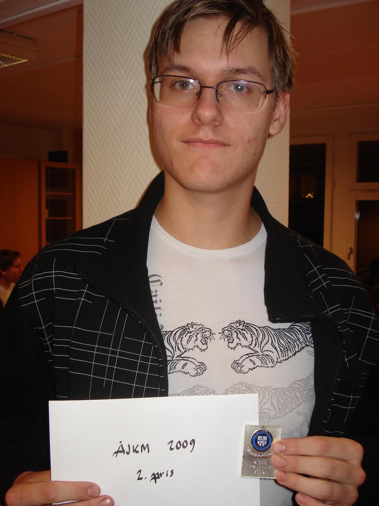 Tvåa i Äldre Junior-KM: Wictor Olsson.