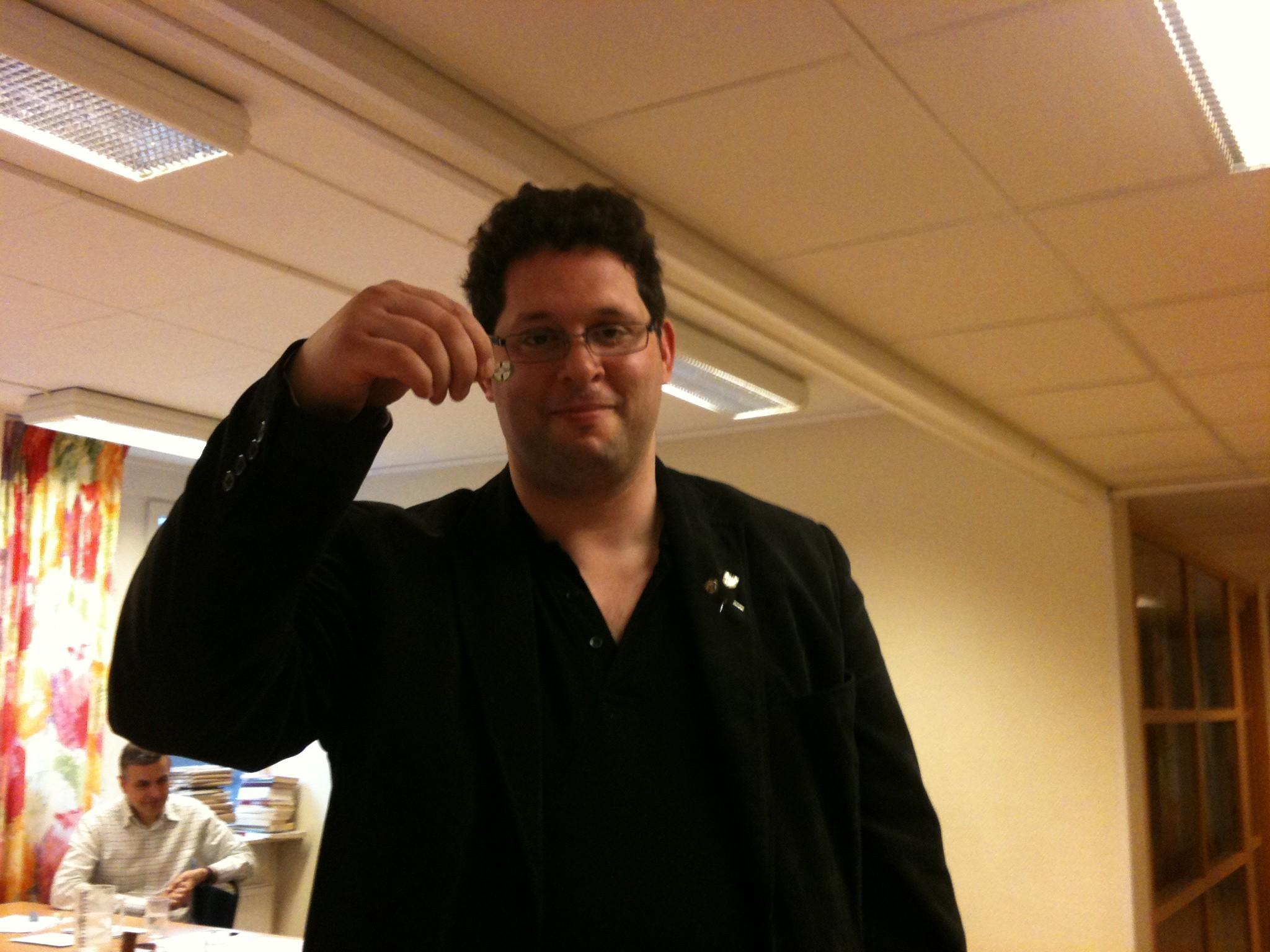 Veteranmärket i brons: Michael Sheingold, 10 år som manhemit.