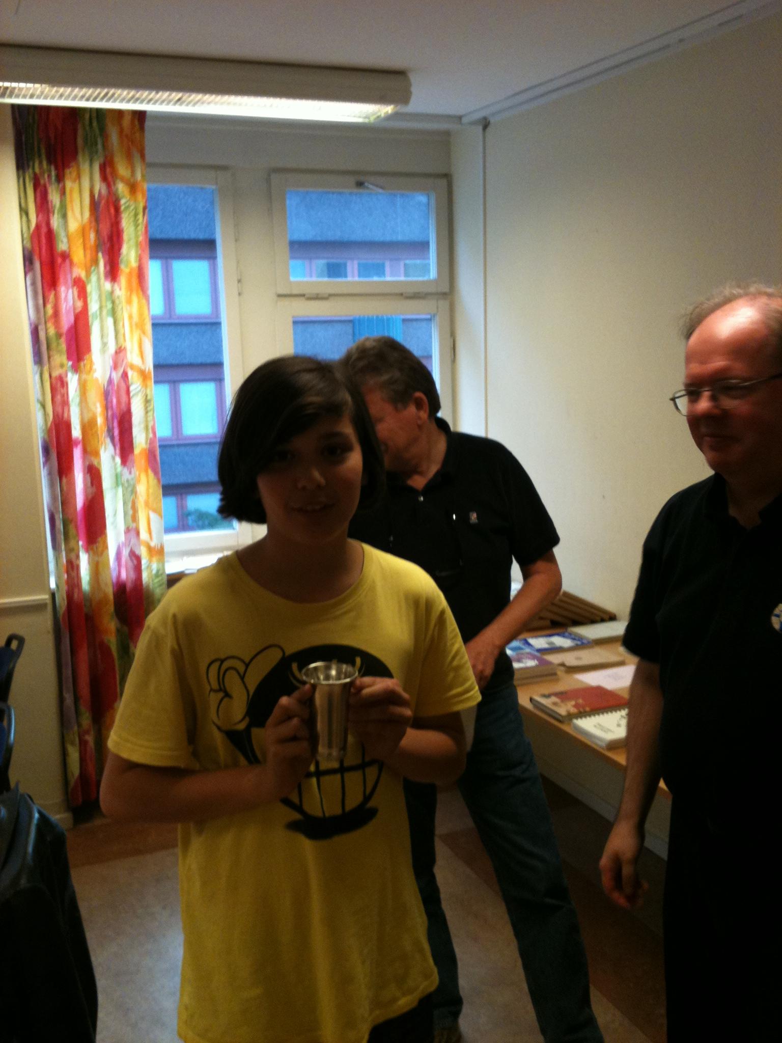 Segerbägaren i Lilla gick till 12-årige Leonardo Aira.
